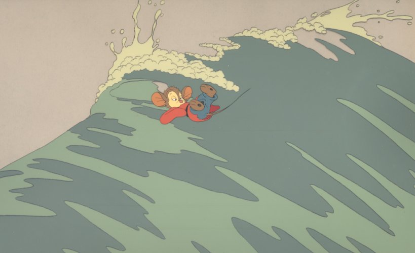 Fievel rides a wave