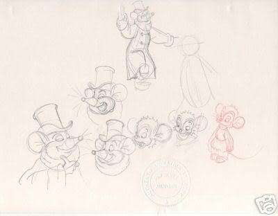 Warren and Fievel Original Sketches